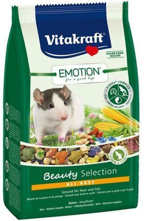Корм Vitakraft Emotion Beauty Selection All Ages для крыс (600 г, )