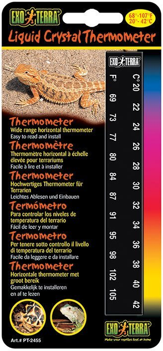 цены на Термометр Exo Terra Liquid Crystal Thermometer для террариумов (18x8,5x0,5 см)  в интернет-магазинах