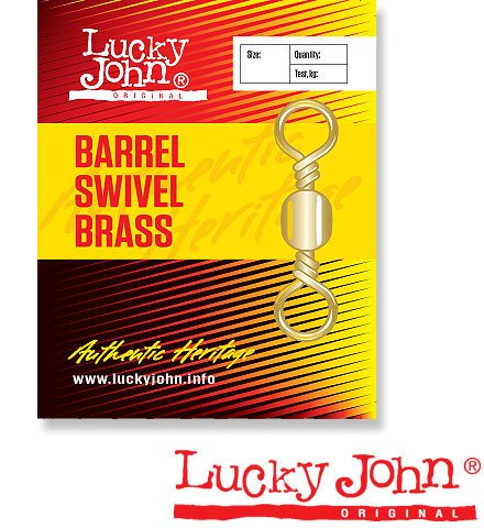 Вертлюги Lucky John Barrel Brass (7 кг, 10 шт)