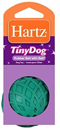 Игрушка Hartz Rubber Ball With Bell Dog Toy Мяч с колокольчиком для собак